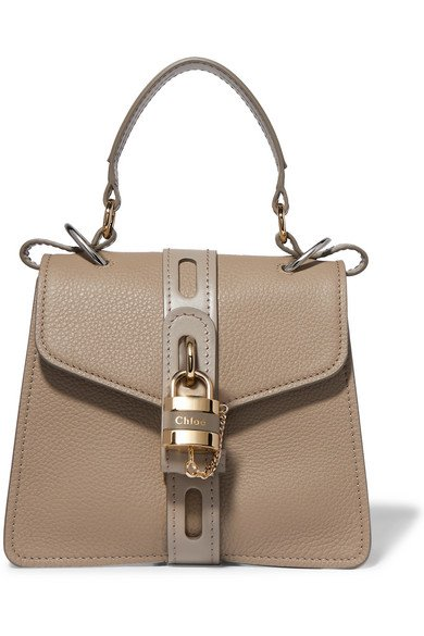 Chloé | Aby small textured and smooth leather tote | NET-A-PORTER.COM