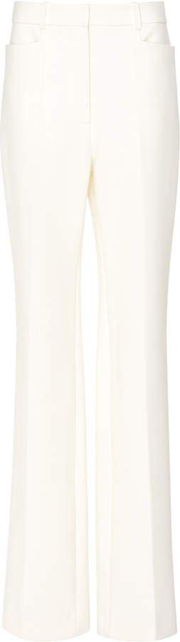 Wide-Leg Wool Tuxedo Trouser