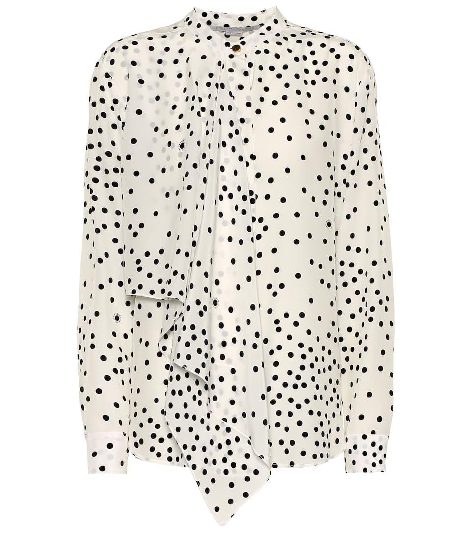 Stella McCartney - Printed silk blouse | Mytheresa