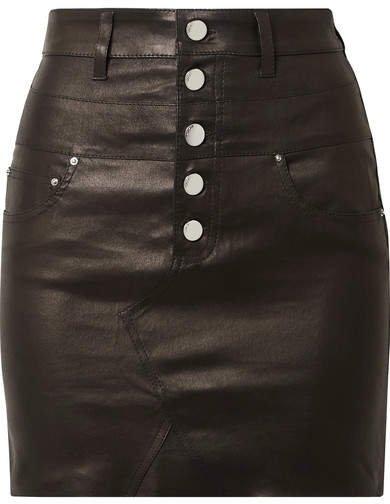 Leather Mini Skirt - Black