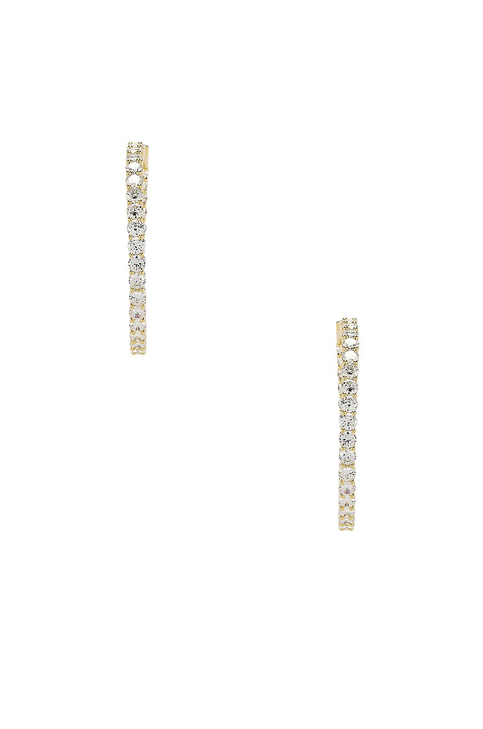 The Large Pave 925 Hoops