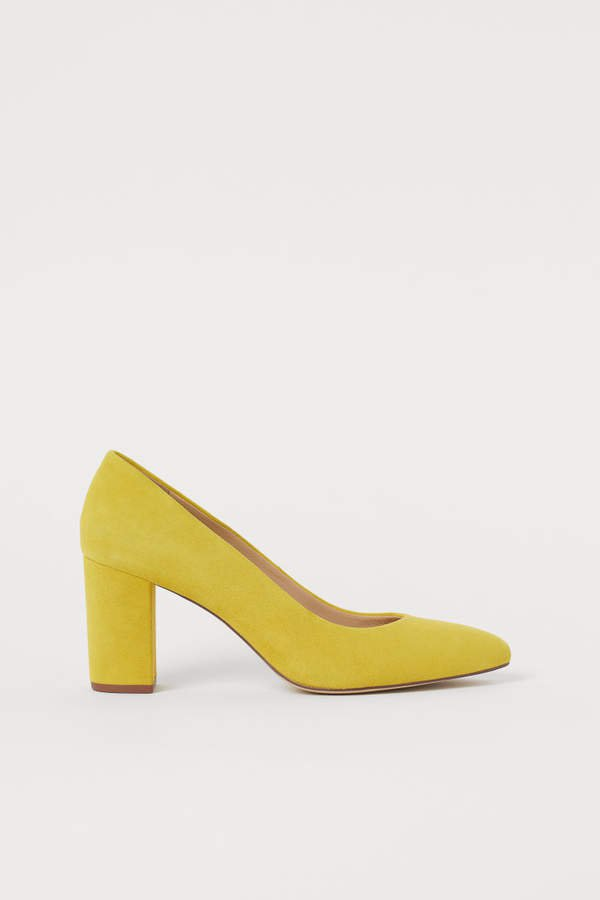 Suede Pumps - Yellow