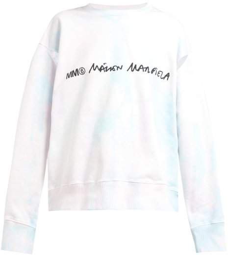 Tie Dye Cotton Sweatshirt - Womens - Light Pink