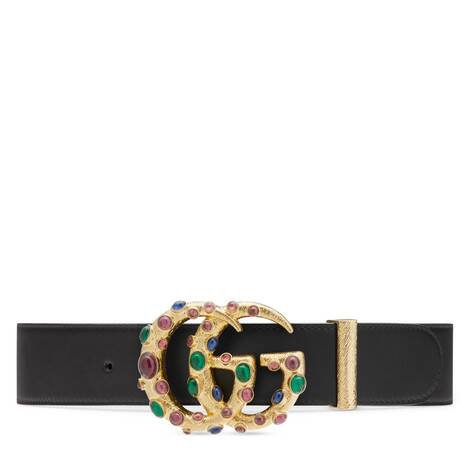 Gold-toned Chain Belt With Crystal Double G Buckle | GUCCI® US