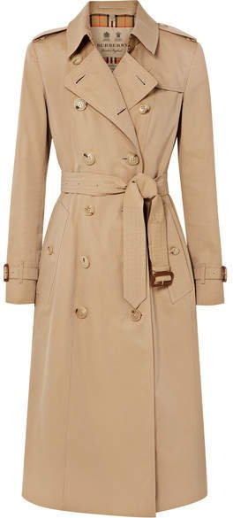 The Chelsea Long Cotton-gabardine Trench Coat - Beige