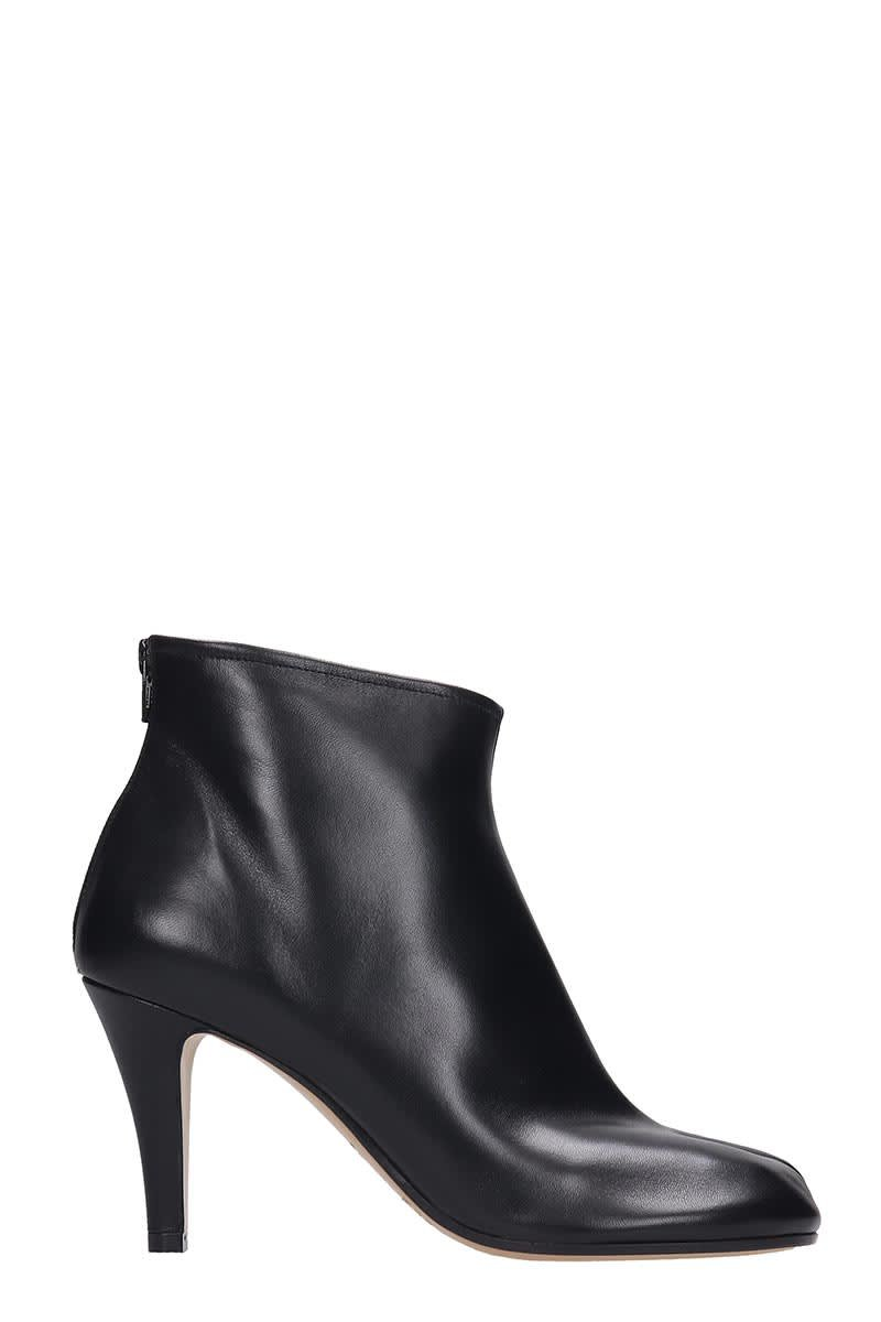 Maison Margiela Ankle Boots In Black Leather