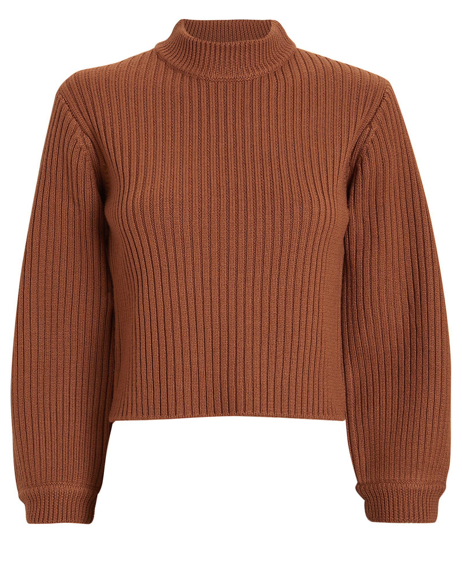 Merino Rib Slit Sweater