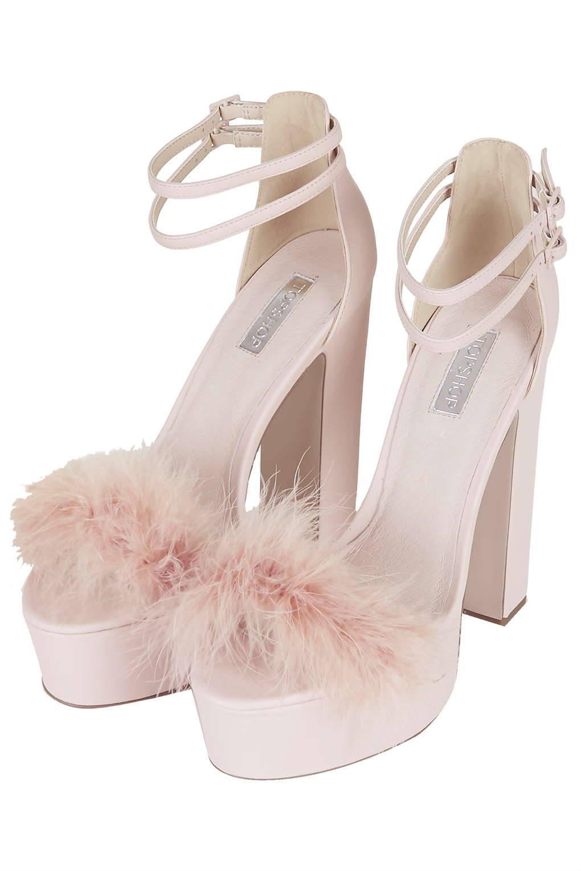 topshop pink fuzzy heels