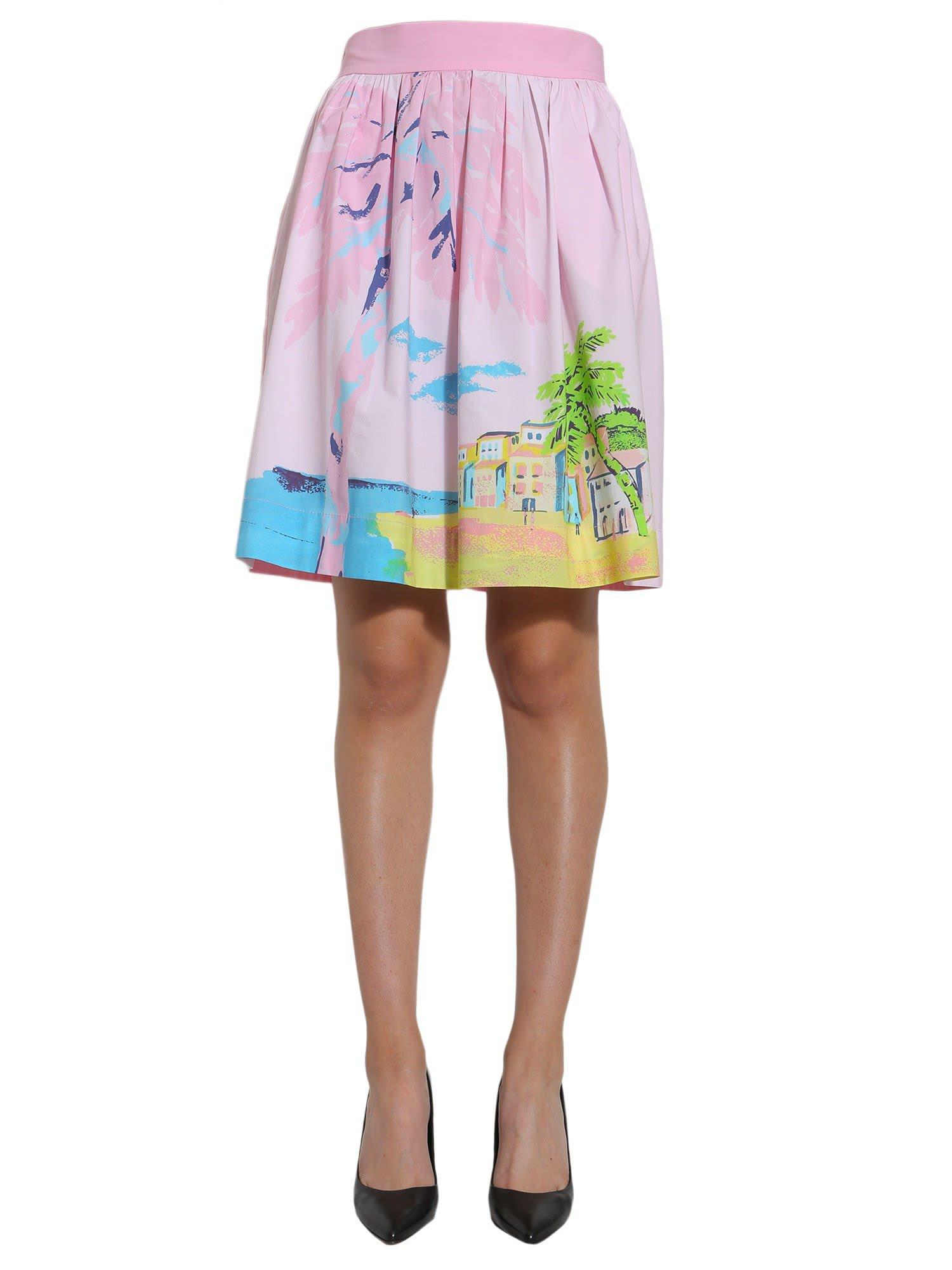 Boutique Moschino Cotton Poplin Skirt