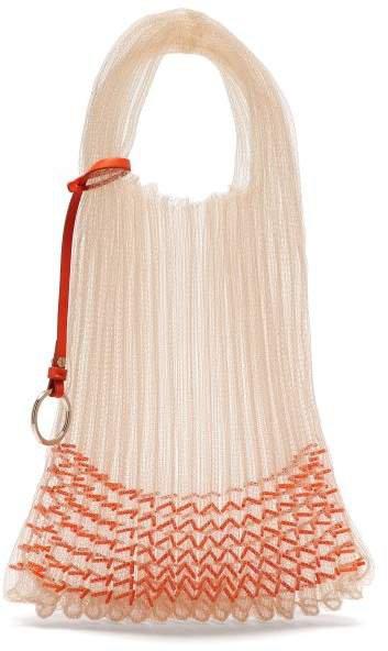 Beaded Small Market Bag - Womens - Orange