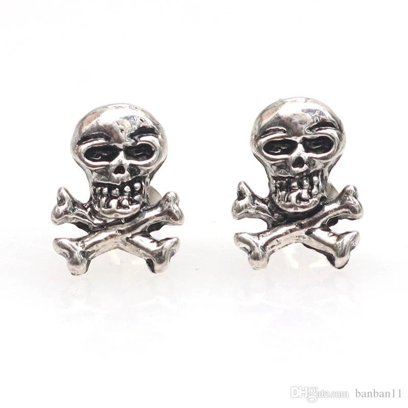 2019 Vintage Retro Skull Earring Glossy Skull Stainless Steel Stud Earrings Men And Women Punk Rock Ear Jewelry Fashion Creative Earrings From Banban11, $0.46 | DHgate.Com