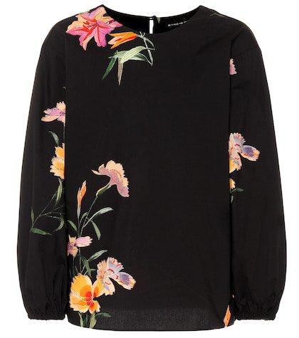Floral cotton top