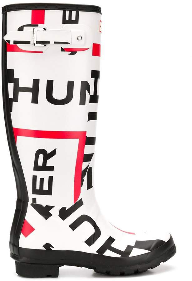 logo knee-high rain boots