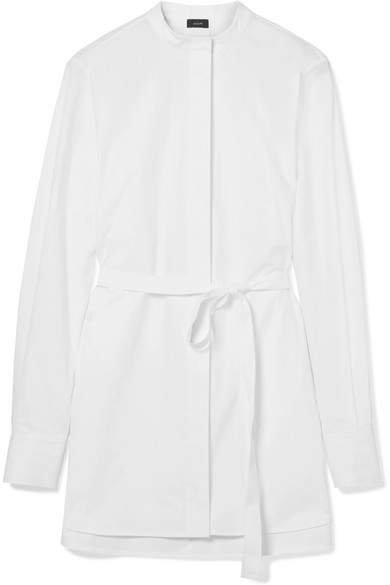 Carla Oversized Cotton-poplin Shirt - White