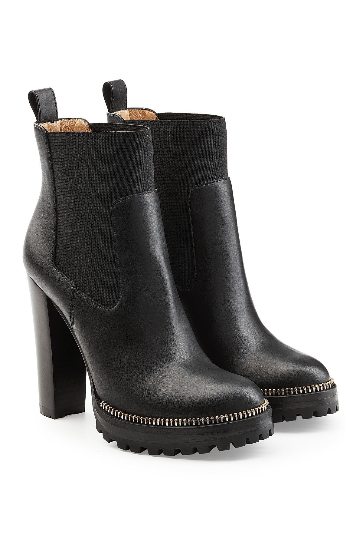 Black Leather Ankle Boots Gr. IT 37