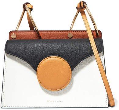 Phoebe Mini Textured-leather Shoulder Bag - White