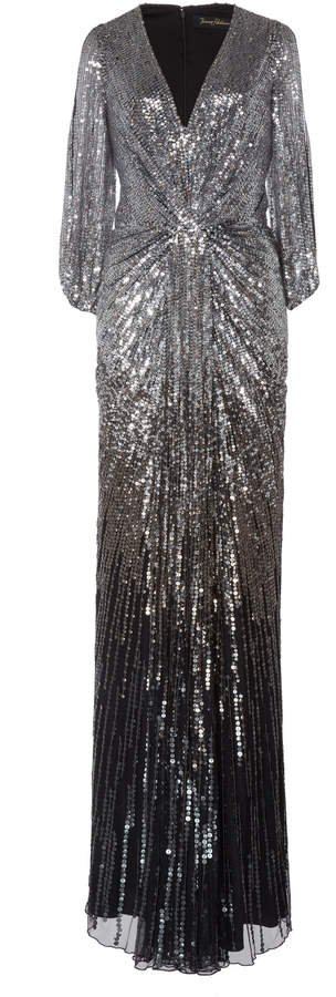 Jacinta Sequined Tulle Gown