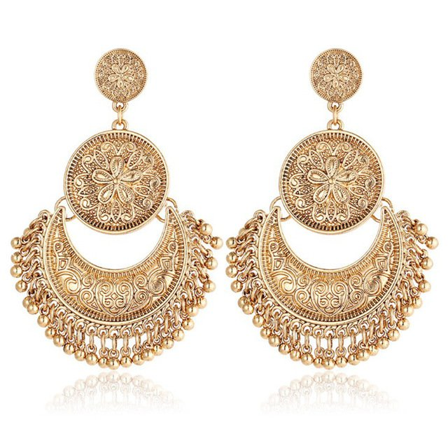 gold boho earrings - Google Search