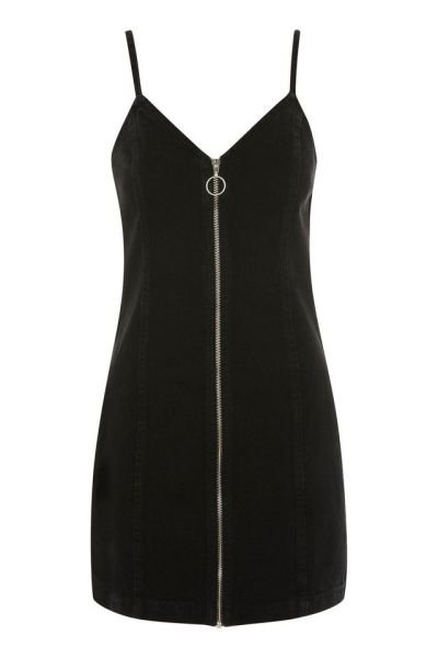Topshop Zip Through Denim Dress