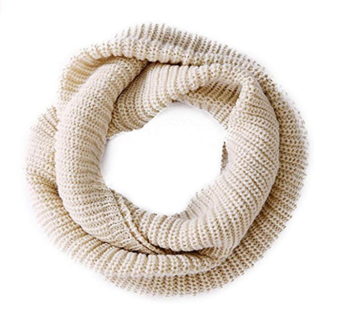 Amazon.com: Women's Winter Infinity Scarf Knitted Thicken Neckerchief Neck Long Scarf Shawl Soft Warm Scarves (Beige): Home & Kitchen