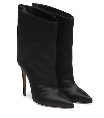 Alex Low satin ankle boots