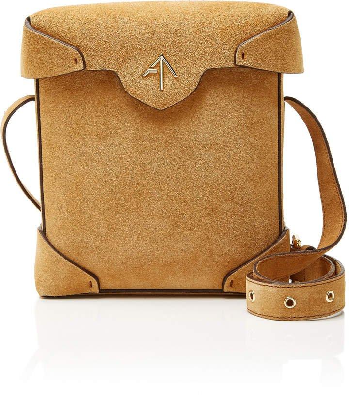 Manu Pristine Mini Suede Shoulder Bag