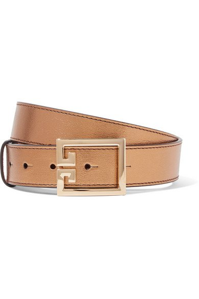 Givenchy | Metallic textured-leather belt | NET-A-PORTER.COM
