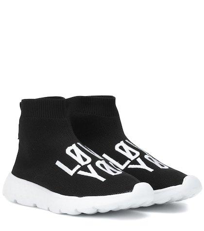 RED (V) printed sock sneakers