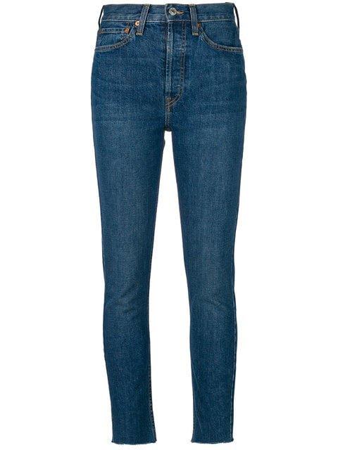 Re/Done Calça Jeans Cintura Alta - Farfetch
