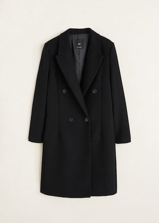 Structured wool coat - Women | Mango USA black