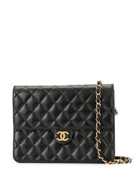 Chanel Vintage Bolsa De Hombro Con Logo CC y Cadena - Farfetch
