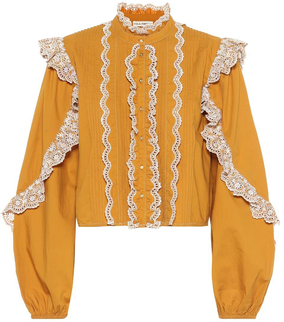 Ulla Johnson - Adelaide ruffled cotton blouse | Mytheresa