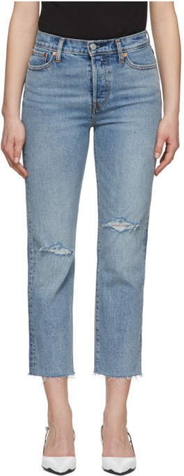 Levis Blue Wedgie Straight Jeans