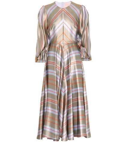 Fife silk satin maxi dress