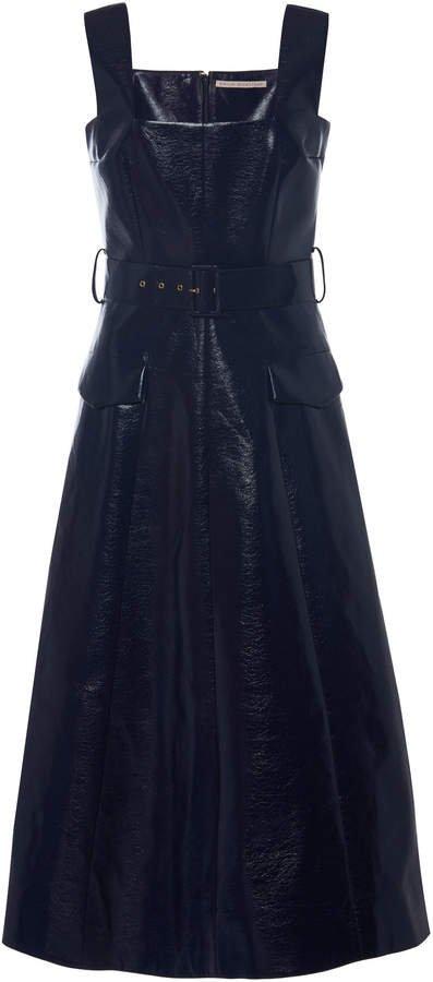 Petra Belted Lurex Midi Dress
