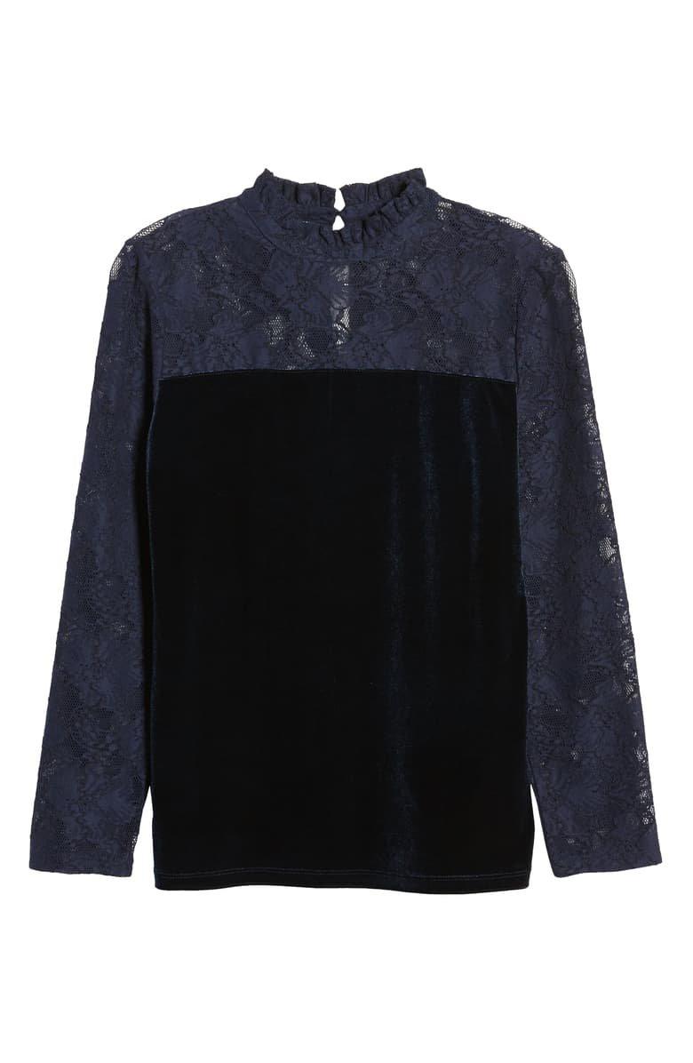Halogen® Velvet & Lace Top   Nordstrom