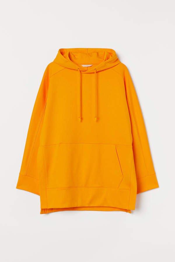 Oversized Hooded Sweatshirt - Orange