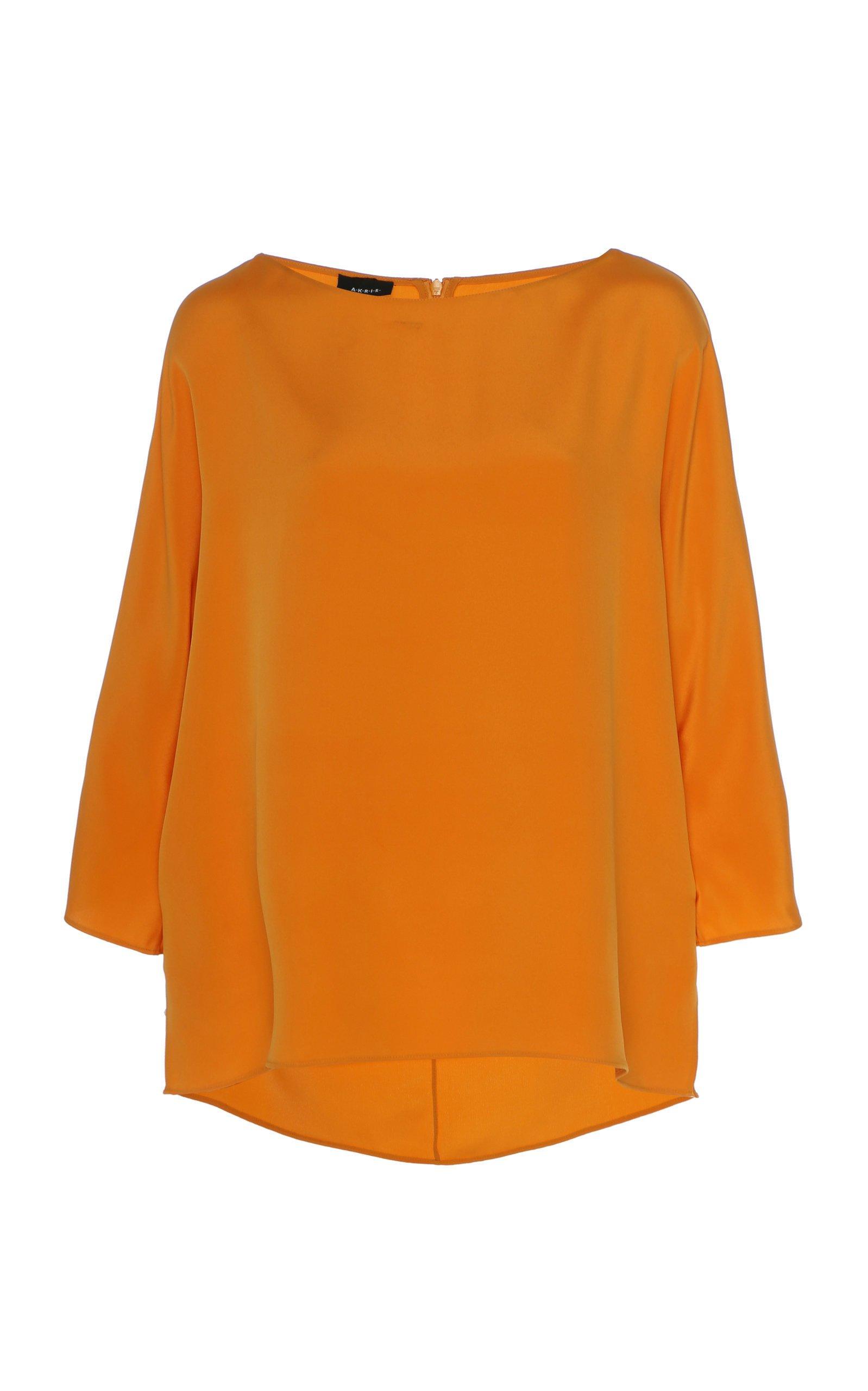 Akris Silk Crepe Tunic Blouse