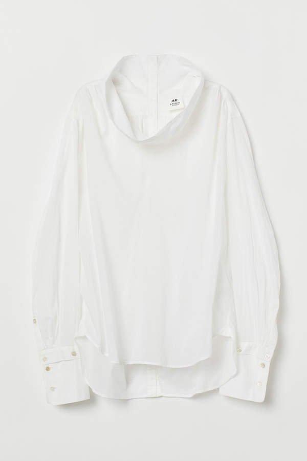 Airy Cotton Blouse - White