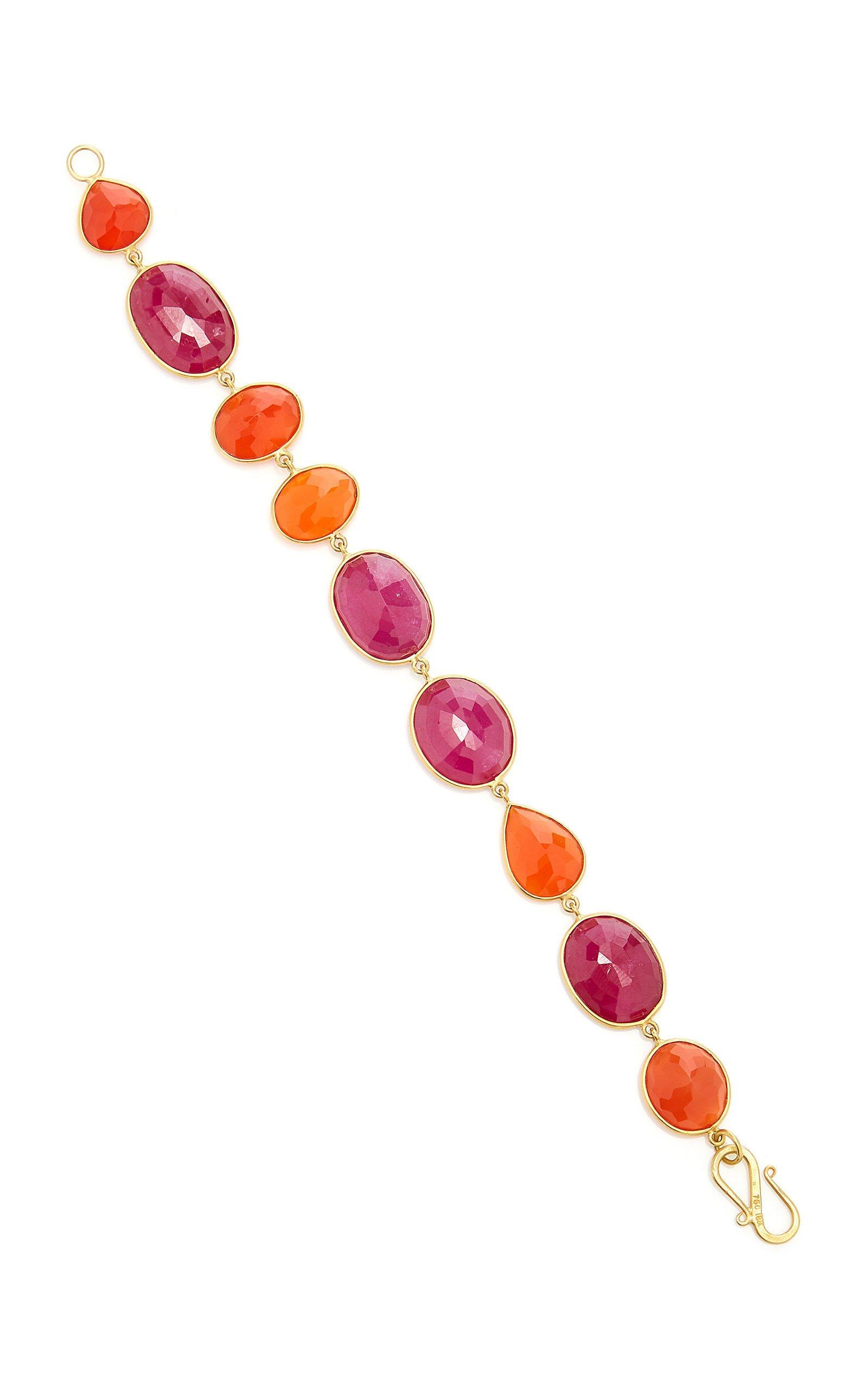 Bahina One of a Kind Ruby and Carnelian Bracelet
