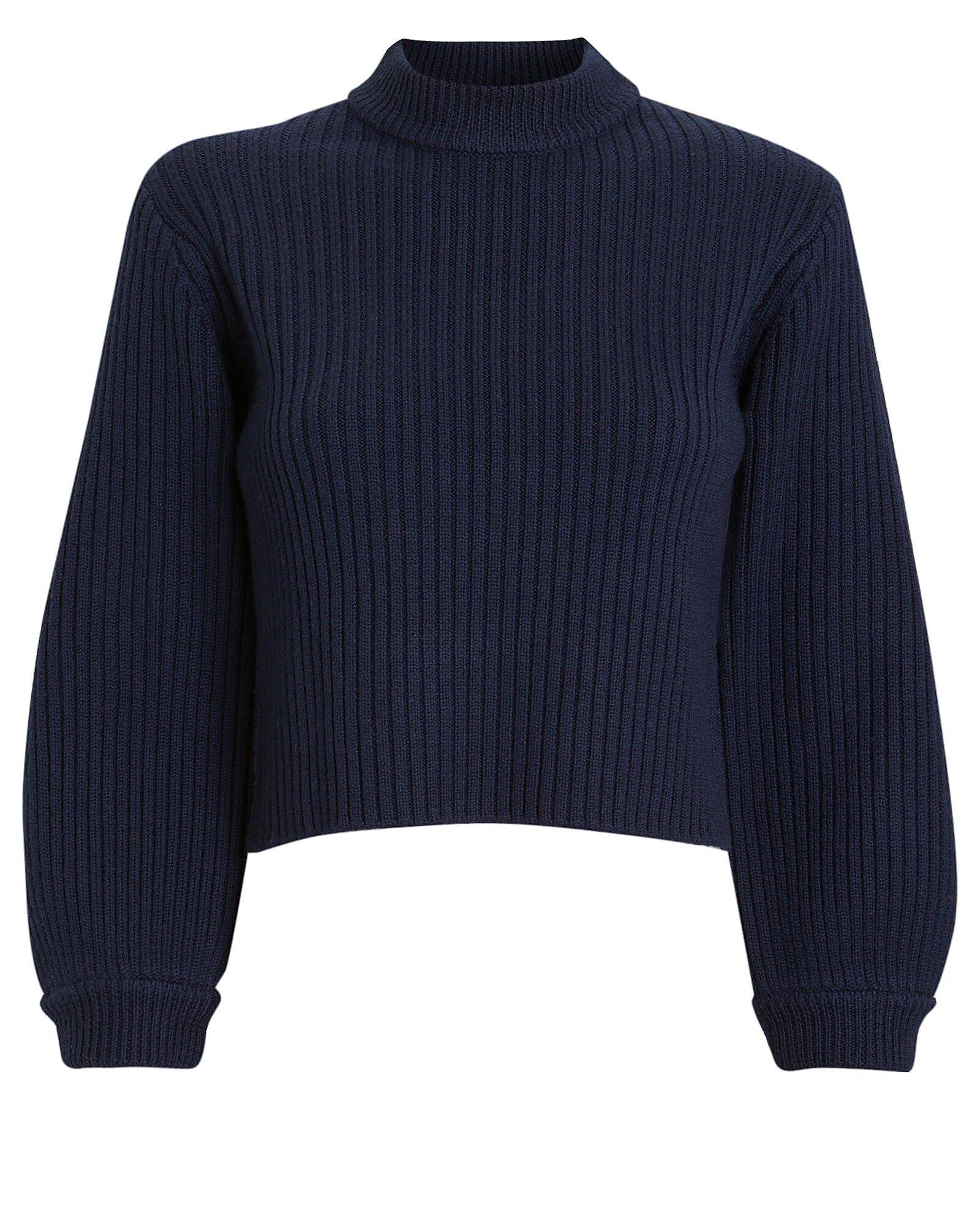 Merino Rib Slit Sweater
