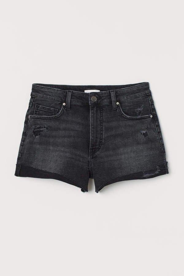 Denim Shorts - Gray
