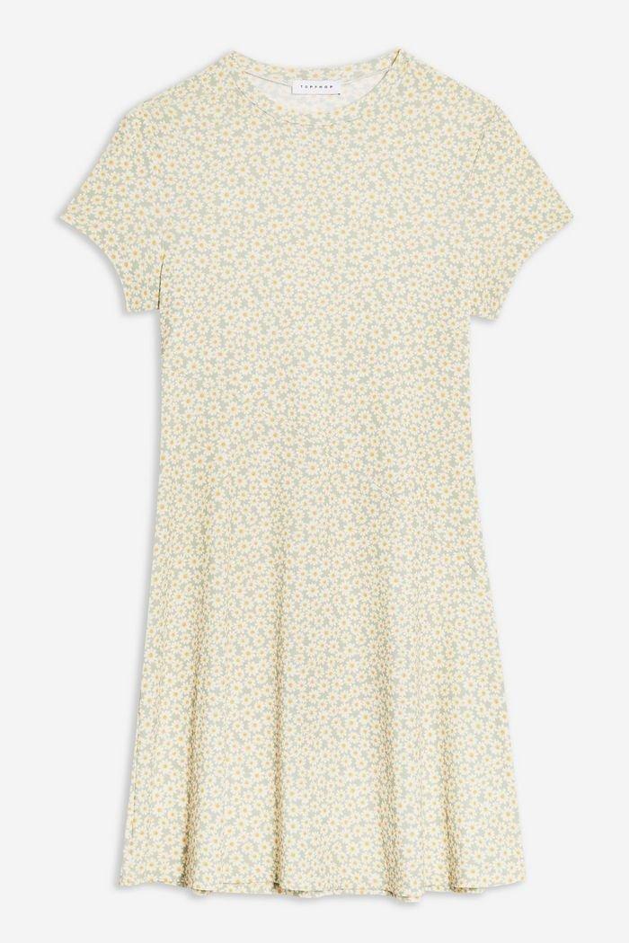 Mesh Tea Dress | Topshop yellow