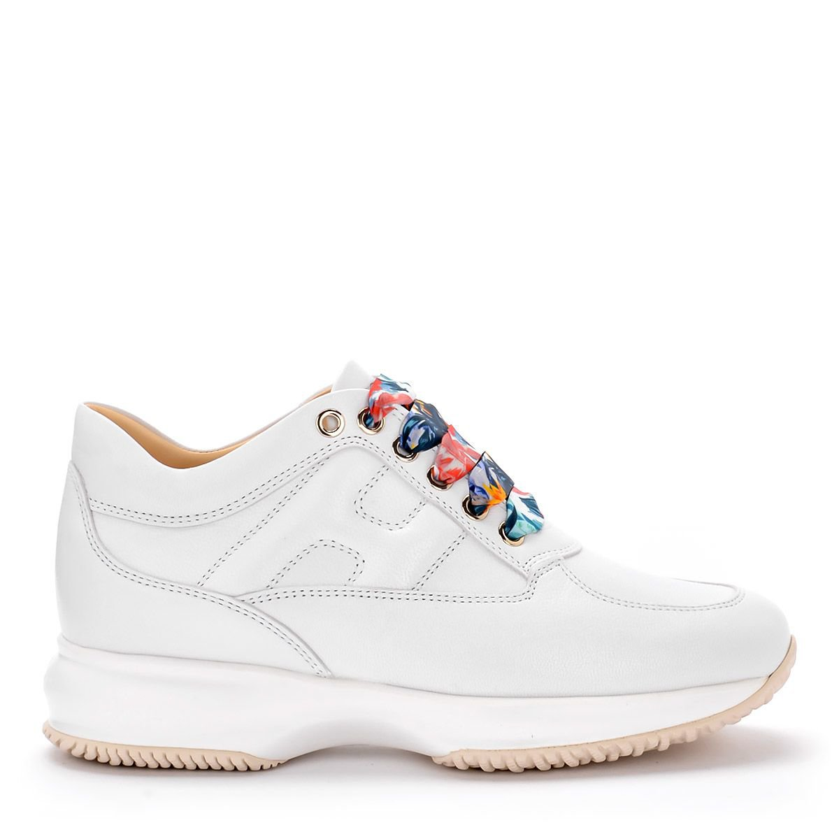 Hogan Interactive Luxury White Refined Leather Sneaker