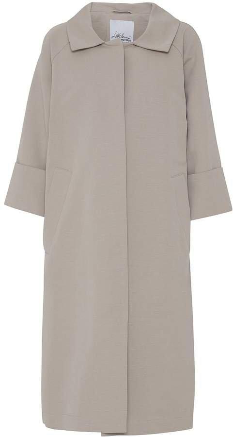 McVERDI - Sand Coloured Cotton Coat With Belt
