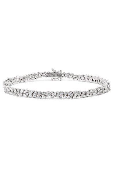 Suzanne Kalan | 18-karat white gold diamond bracelet | NET-A-PORTER.COM