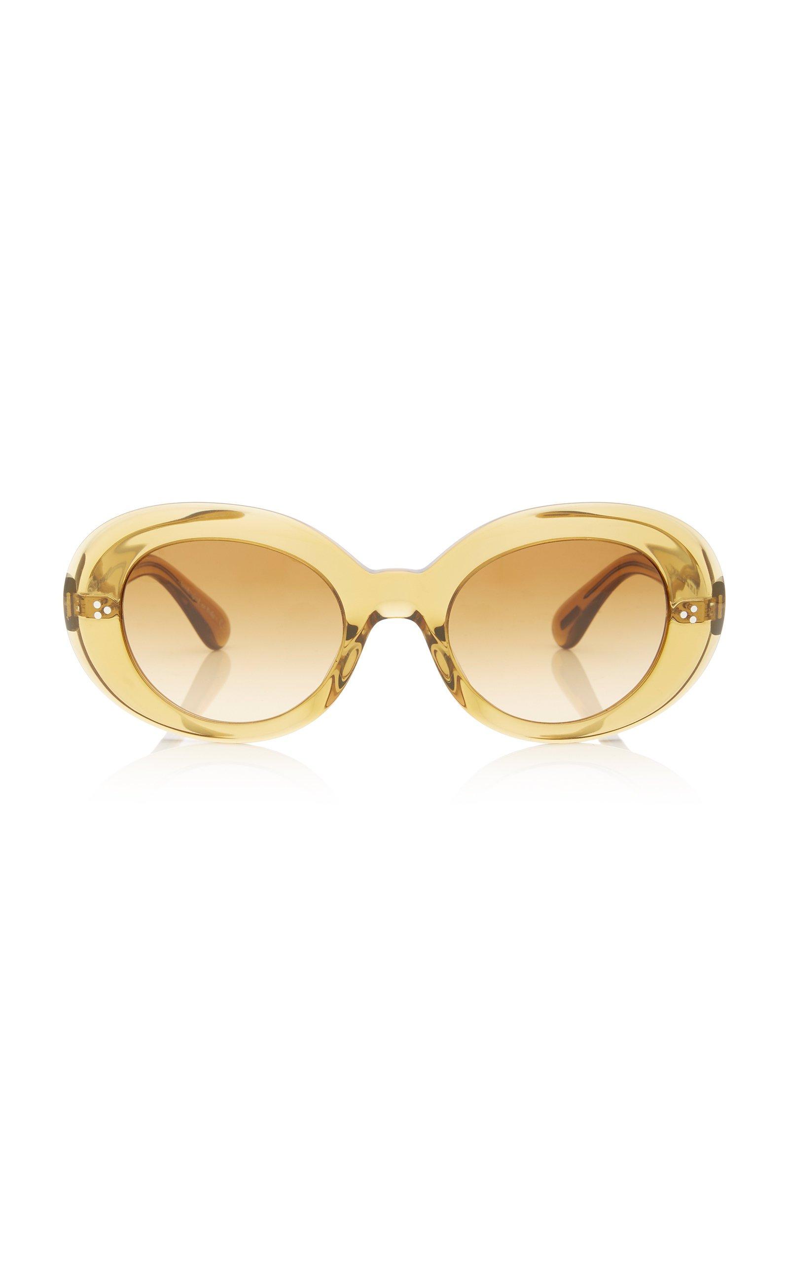Oliver Peoples Erissa Round-Frame Acetate Sunglasses