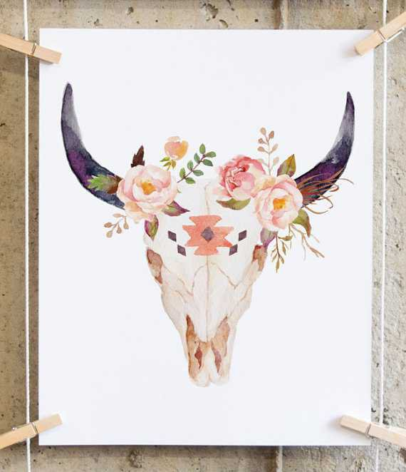 boho wall art printable boho nursery decor cow print cow