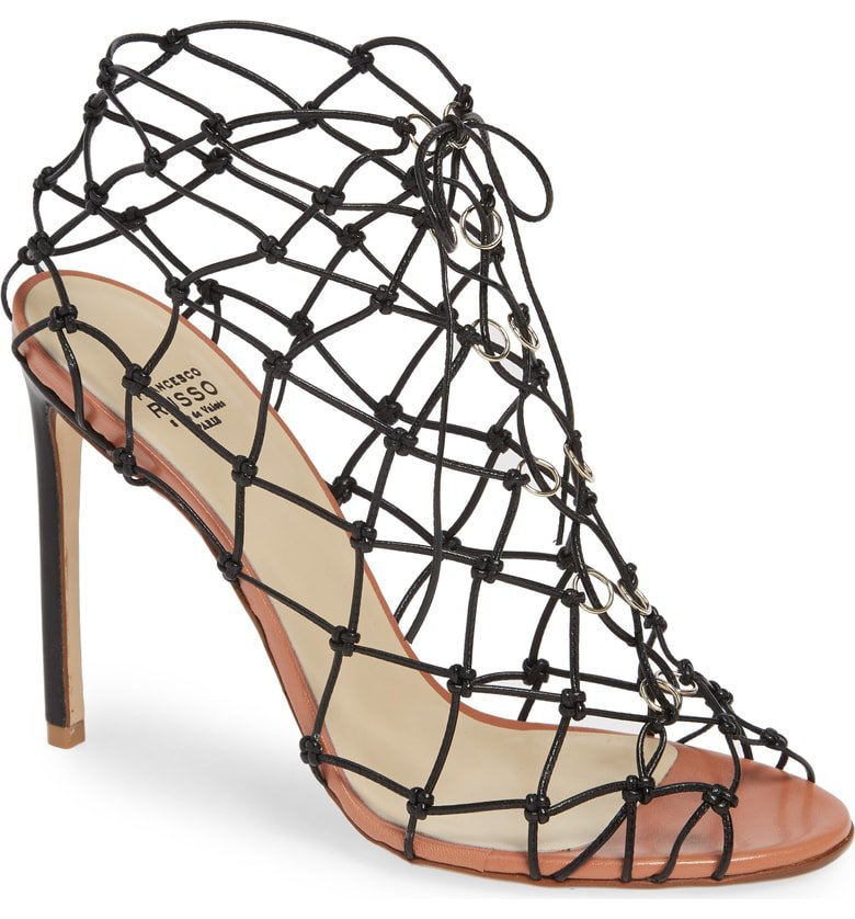 Francesco Russo Knot Cage Sandal (Women) | Nordstrom