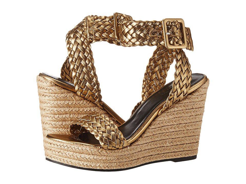 Sonia Rykiel - Laminated Sheepskin Wedge (Bronze) Women's Sandals